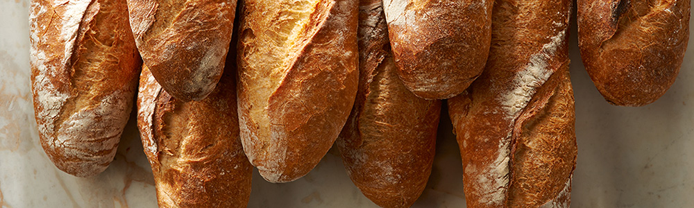 artisan bread baguettes